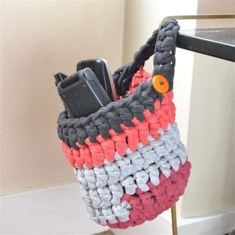 crochet basket pattern with t shirt yarn t shirt yarn storage basket 183 how to stitch a knit or