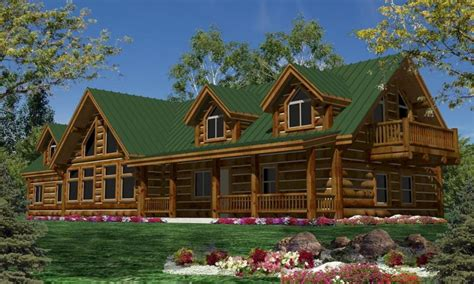 single story log cabin homes plans single story log cabin