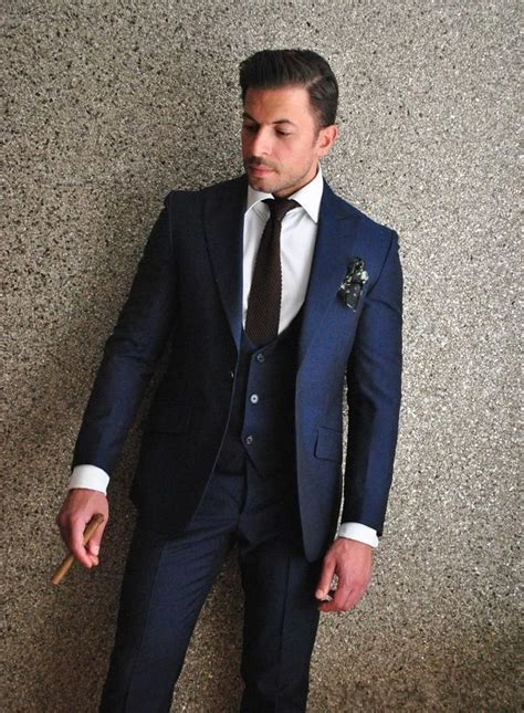 Best 25  Navy suit groom ideas on Pinterest   Navy blue