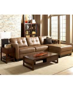 macys furniture martino leather sectional living room furniture sets