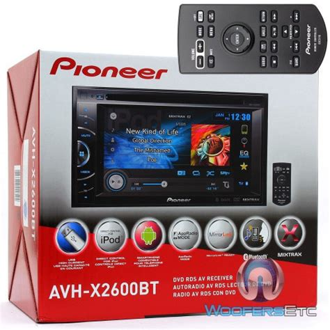 Pioneer Avh 285bt Tv Din Pioneer Bluetooth Sale avh x2600bt pioneer in dash 6 1 quot touchscreen dvd usb mp3 car stereo receiver with pandora