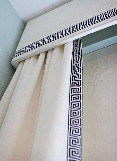 curtains with greek key trim curtains with greek key trim bath pinterest