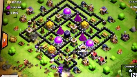 layout coc th8 coc th8 defense layout with funnel traps youtube