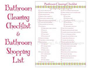 Bathroom List Of Items Bathroom Cleaning And Shopping Checklist Two By Designinglife