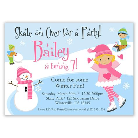 Skating Birthday Card Template by Roller Skating Invitations Invitations Templates