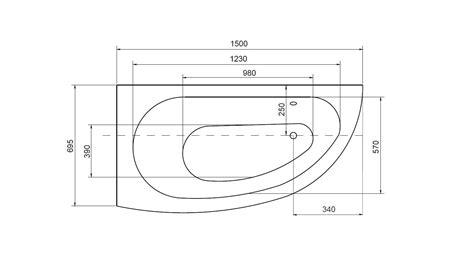 dimension baignoire d angle standard baignoire marina baignoire design mobilier salle de