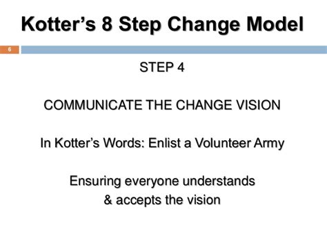 kotter enlist a volunteer army failure of changes characteristics of effective change