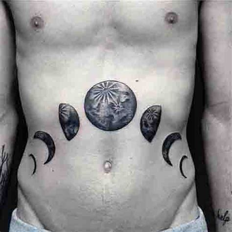 moon phases tattoos designs 90 moon tattoos for ship of light on the sea of