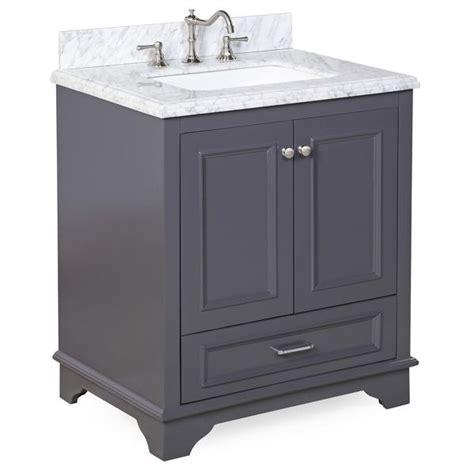 Nantucket 30 inch Vanity (Carrara/Charcoal Gray