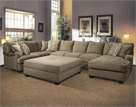 Large Sectional by Couches With Large Ottoman