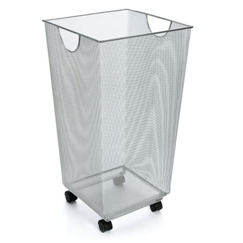 Silver Mesh Handy Bin The Container Store Container Store Laundry
