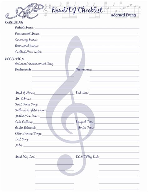 Wedding Song List Printable by Wedding Playlist Template Best Template Design Images