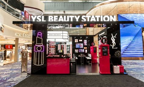 ysl beaute chooses singapore  latest travel retail space