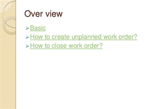 how to make lwork how to create work order