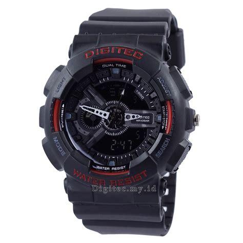 digitec 2020 jam tangan pria hitam digitec dg 2020t hitam merah jam tangan sport anti air murah