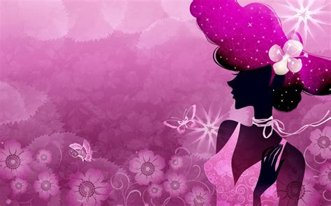 wallpaper girly vector girls illustrated wallpapers