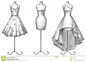 set of mannequins dummies with dresses fashion