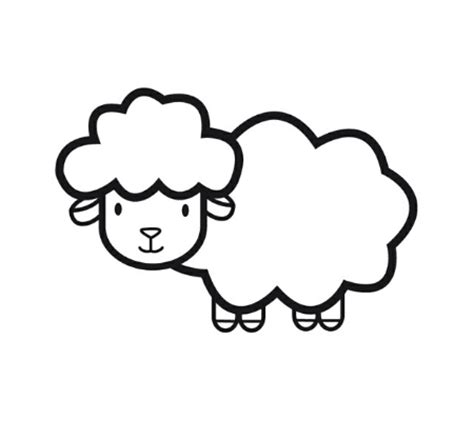 lamb coloring pages preschool rysujemy owcę jak narysować owcę owca