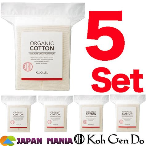 Kohgendo Japan Organic Cotton Repacked Edition 5 Lembar koh do organic cotton 80 sheets 5 set 400 sheets japan mania the best place to order