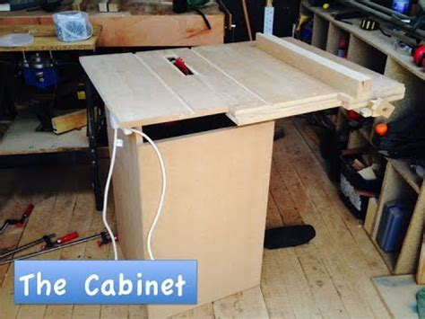 how to make a saw bench how to make a homemade table saw 3 the cabinet youtube