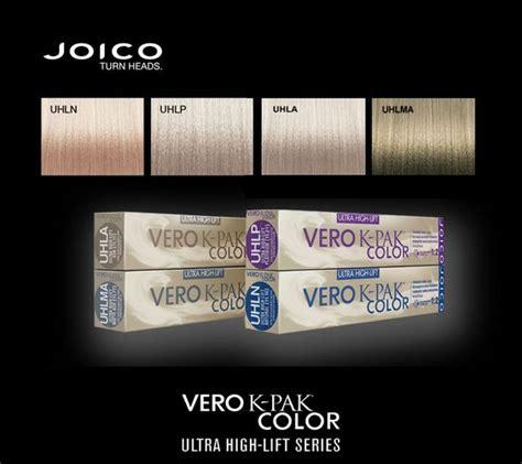 joico vero k pak color chart joico vero k pak color ultra high lift colors color