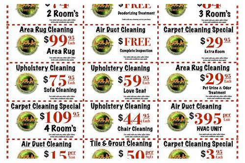 deals carpet cleaning