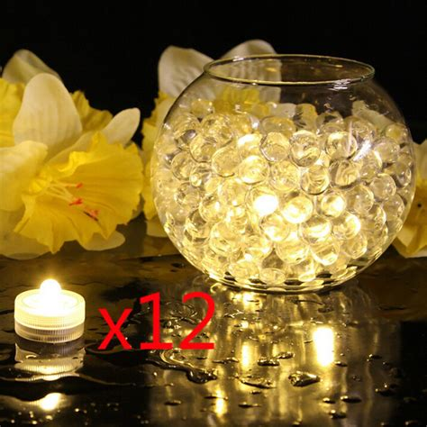 Battery Operated Lights For Vases by 12 Pack Led Tea Candle Lights Battery Powered Waterproof