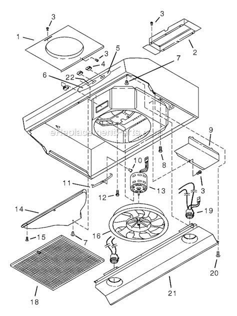 nutone bathroom fan manual nutone ws1 parts list and diagram ereplacementparts com