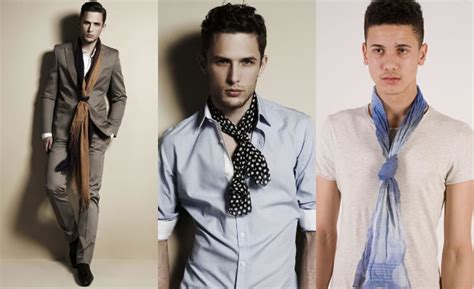 tie knots for short men the fake knot scarf lookbook