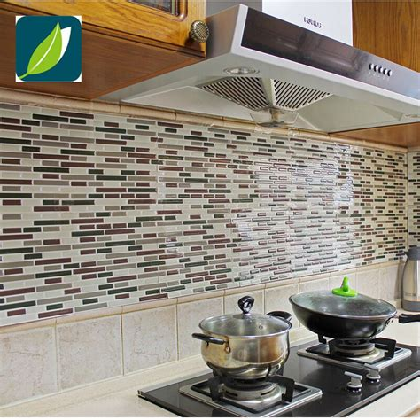 kitchen decals for backsplash fancy fix vinyl peel and stick decorative backsplash kitchen tile decal pack of 4 sheets ts004
