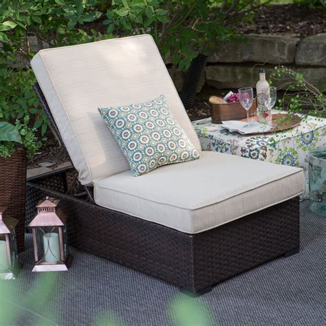 wide lounge chair belham living marcella wide wicker lounge chair outdoor