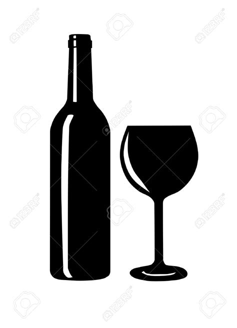 wine vector wine bottle and glass clipart 101 clip art