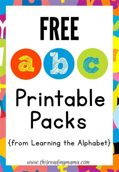 printable alphabet games for toddlers free abc printable packs learning the alphabet abc