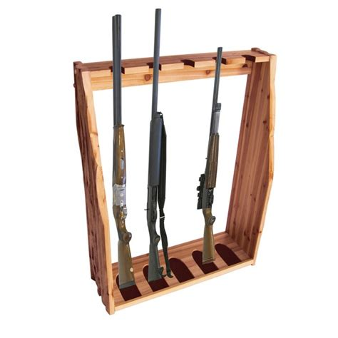 Floor Rack 5 gun solid pine floor rack