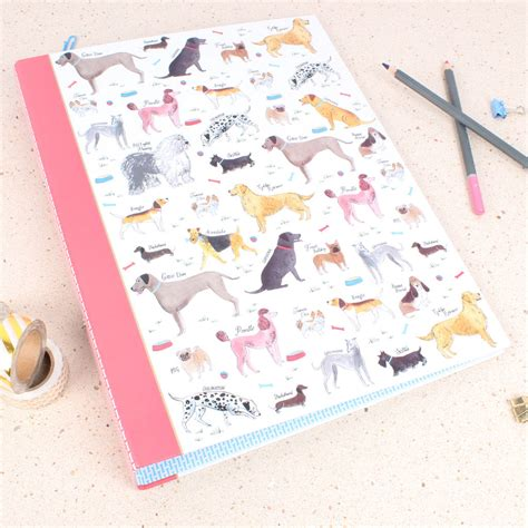 milly green pug debonair dogs ring binder by milly green notonthehighstreet