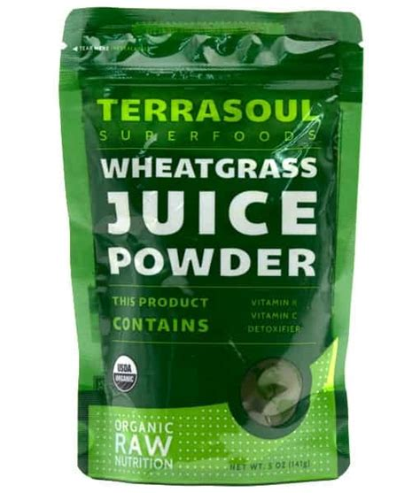 Wheatgrass Juice Powder For Mold Detox by Terrasoul Organic Wheatgrass Juice Powder