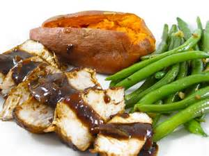 hearty and healthy autumn turkey dinner with weight
