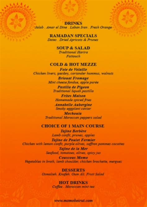 ramadan menu design no time fasting special ramadan menus we like