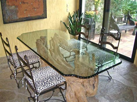 Kitchen Tables Glass Chipped Polished Edge Glass Dining Tables Sans Soucie