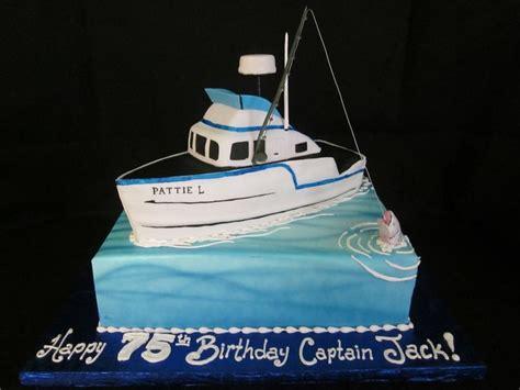 17 best ideas about boat cake on pinterest nautical cake - Fishing Boat Cake