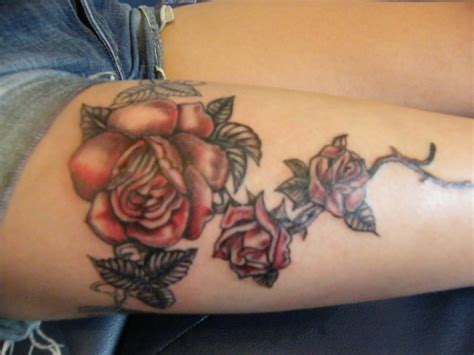 black and red roses tattoo black and by lozzrc on deviantart