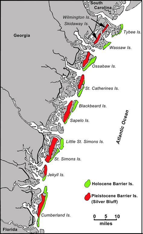 barrier islands map island sediments