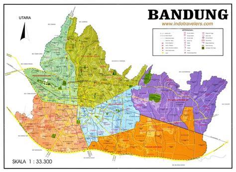 map of bandung city bandung city map bandung indonesia mappery