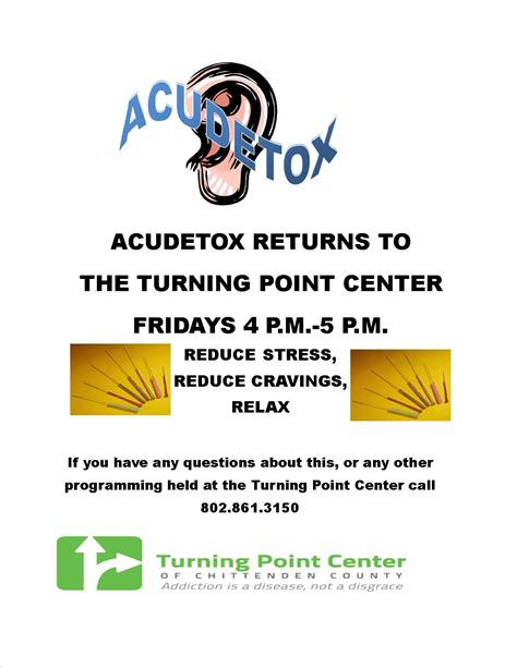 Turning Point Detox Center by Acupuncture Detoxification At The Turning Point Center Of
