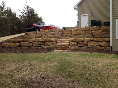 Retaining Wall Stairs Design Retaining Walls Stairs Ground Breakers Landscape Design