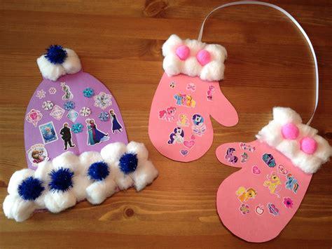 crafts for winter winter hat and mitten craft winter craft winter