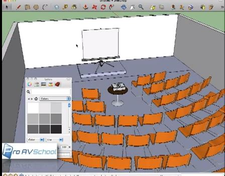 audio visual rental layout with sketchup | proavschool.com