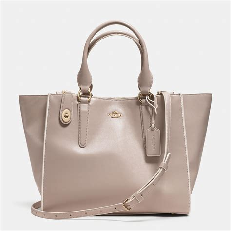 colorblock leather coach crosby carryall in colorblock leather in gray lyst