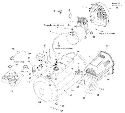 Sears Craftsman 919 167210 Air Compressor Parts