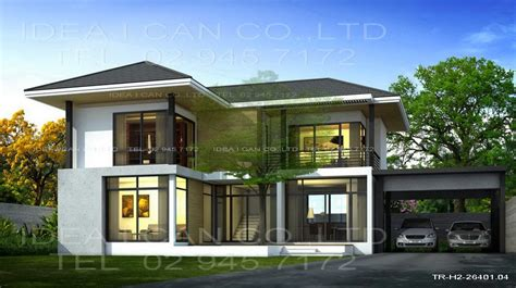 contemporary style house plans modern style 2 story home plans for construction in thai